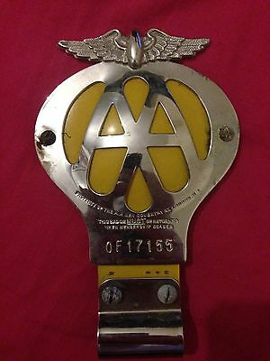 VINTAGE CAR AA 1950s BREAKDOWN RECOVERY AUTOMOBILE BRITISH EMBLEM BADGE 51-53