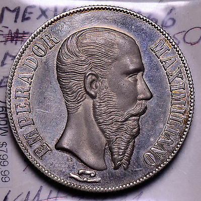 M0097 Mexico 1866  Medal  high relief proof fantasy medal rare combine shipping