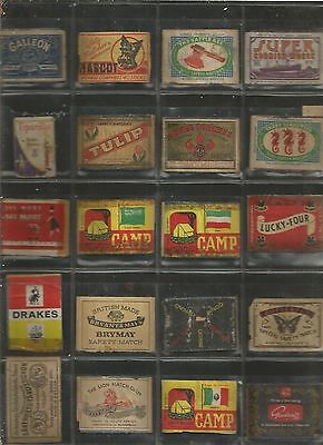 Collection Of 39 X Old 'matchbox Labels'