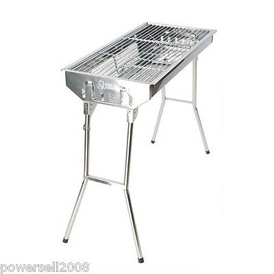 # New Outdoor Stainless Steel Household Portable Folding Charcoal BBQ Grill
