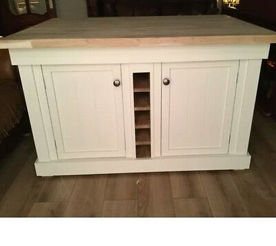 The Derbyshire Bespoke Kitchen Island With A Pine Top