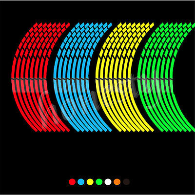 8X Motorbike Car Reflective Stickers for Bike Bicycle Motorcycle Wheel Rim Tyre