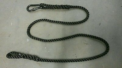 Genuine SBS Issue British Special Forces UKSF 1.8m Black Rope & Carabiner Toggle