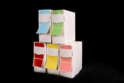 1,000 Coloured Stickers 32Mm X 22Mm Self Adhesive Colour Code Sticky Labels