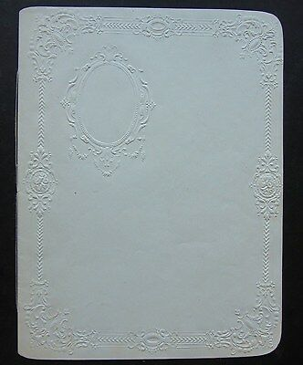 Unused Scrap Book, 1860's, embossed pages intended for illustrations & poems etc