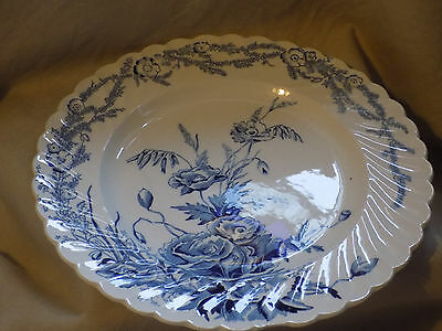 Clarice Cliff plate, 'Harvest' blue and white, Royal Staffordshire, 20cm