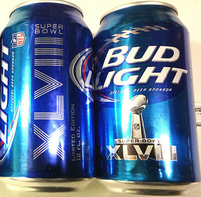 Bud Light Super Bowl 48 XLVIII beer 2013 NFL Limited Edition 12oz can Bottom Ope