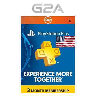 PlayStation Plus 3 Monate / 90 Tage - PSN Network Card - US Store PS3/PS4/PSvita