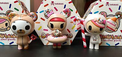 TOKIDOKI Donutella & Her Sweet Friends Blind Box figure x3 NEW with Boxes!