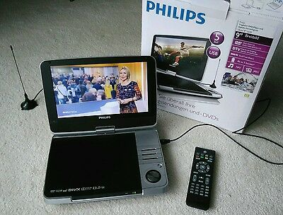 tragbarer dvd player dvb t philips pd 9025 fernseher 9. Black Bedroom Furniture Sets. Home Design Ideas