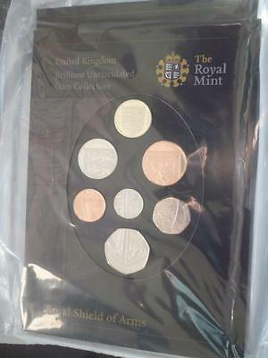 2008 Brilliant Uncirculated Coin Set Royal Shield Of Arms New Design Sealed New