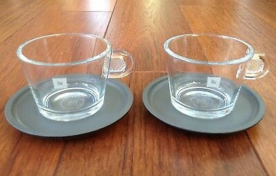 Nespresso View Coffee Cups & Saucers - New Pair