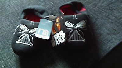 NEW STAR WARS  childrens SLIPPERS SiZE 8