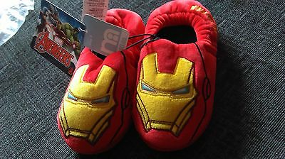 NEW IRONMAN childrens SLIPPERS SiZE 9