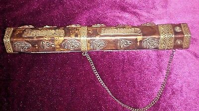 Old Indian Scroll/Map Case--Perhaps 1800's--Rare Antique