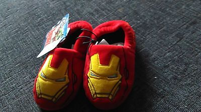 NEW IRONMAN childrens SLIPPERS SiZE 7