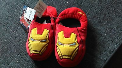 NEW IRONMAN childrens SLIPPERS SiZE 10