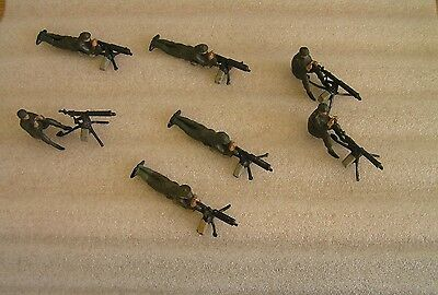 7 x Mixed Lot of Various Britains Lead Machine Gunners