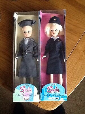 SINDY DOLL CABIN CREW BOAC & BEA 50/60's Style New Boxed