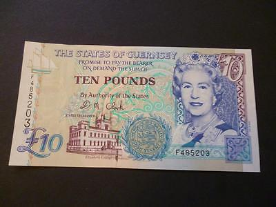 The States Of Guernsey Ten Pounds Note Mint And Uncirculated Guernsey £10 Note.
