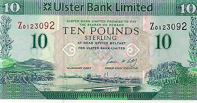 Ireland  Banknote £10 Replacement Ulster Bank Ltd
