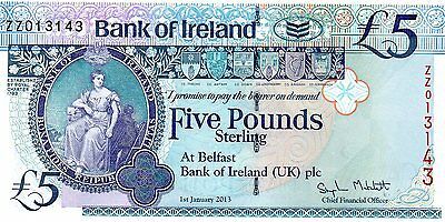 Bank Of Ireland  £5  Replacement  2013