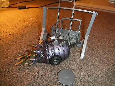 Large 5 Inch Pull N Go Robot Wars Matilda With Chainsaw & Swinging Gate - Vg Con