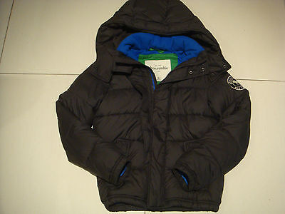 Abercrombie And Fitch Boys Navy Padded Hooded Jacket Kids XL