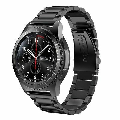 Black Stainless Steel Strap Watch Band For Samsung Gear S3 Classic / Frontier