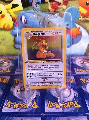 1st Edition Holo Dragonite Fossil Pokemon Card 4/62 WOTC