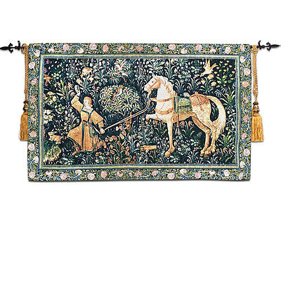 Maid and the Unicorn Art Tapestry Wall Hanging