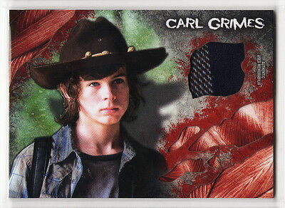 2016 TOPPS The Walking Dead Survival Box Carl Grimes Shirt Costume Relic Card