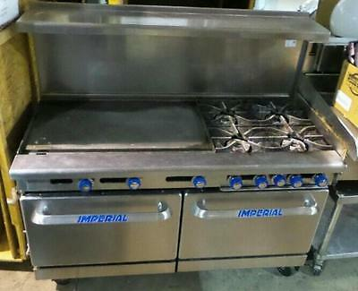 "Imperial 60"" 4 Burner / 36"" Griddle / 2 Ovens Gas Range Stove  Commercial"