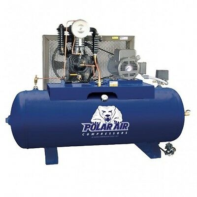 5 HP 2 Stage 3 PH 80 Gallon Horizontal Air Compressor