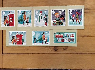 Royal Mail 2014 official Christmas postcards set of 8