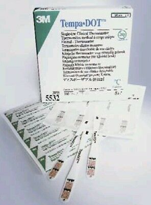 Tempa Dot Single Use Clinical Thermometers - 100 pieces