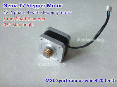 Nema 17 2-Phase 4-Wire Stepper Motor For 5mm Pulley CNC Prusa Peprap 3D Printer
