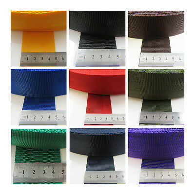 Polypropylene Webbing *12 Colours & 5 Widths* Coloured Strong Webbed Strapping