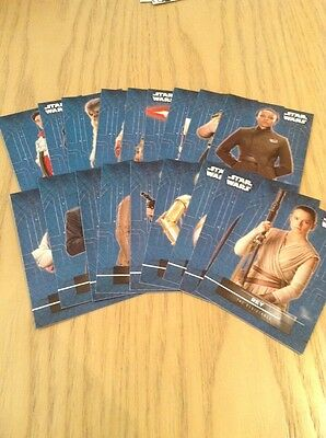 Star Wars The Force Awakens Series 2 - Complete 18 Card Sticker Set