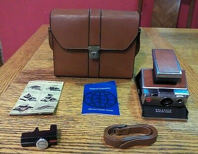 Vintage Polaroid Sx-70 Land Camera Original Model With Leather Case