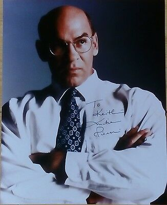 MITCH PILEGGI PERSONALLY SIGNED 10x8 COLOUR PHOTOGRAPH THE X FILES