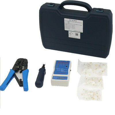 RJ11, RJ45 Crimp, Punch and Test Kit