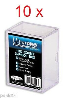 10 x Ultra Pro Deck Box deckbox boîte rangement storage gaming 100 cartes 408800