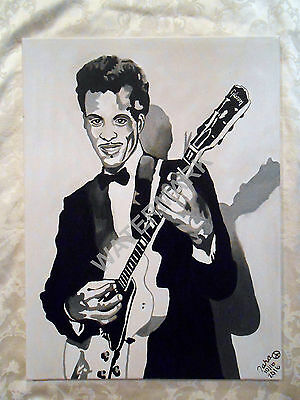 Chuck Berry Oil Painting