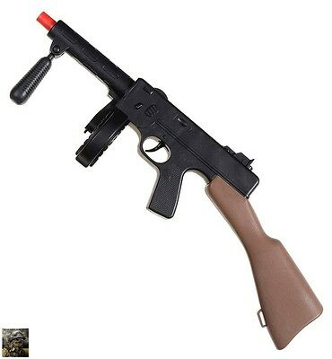 Adult Thompson Tommy Machine Gun With Sound Action Army Military SAS Fancy Dress