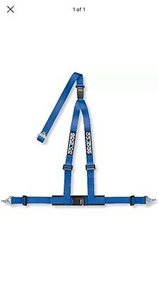 sparco 3 point harness rally race blue seat belt restraint quick release behind