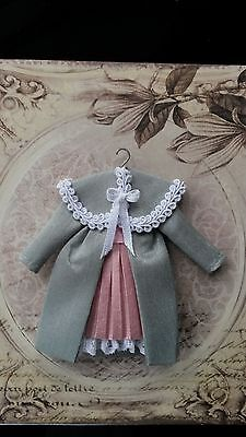 1:12th scale~childs victorian coat/dress display ~ hand made by suey