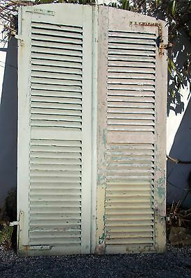 shutters, pair of old French shutters, vintage shutters