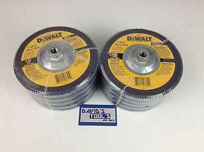 New Dewalt DW8377 7-Inch by 5/8-Inch-11 60g Type 27 HP Flap Disc 10 Pack