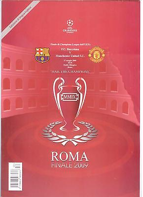 2009 CHAMPIONS LEAGUE FINAL BARCELONA v MANCHESTER UNITED  (PIRATE) (IN ROME)